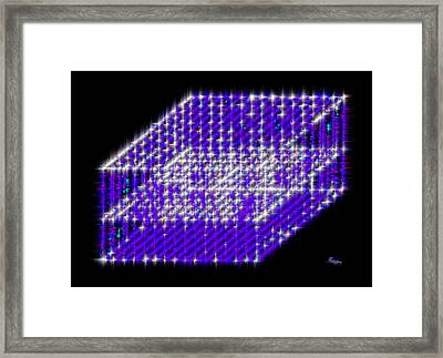 Blue Diamond Grid Framed Print