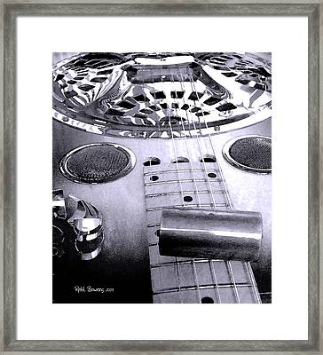 Blue Dobro Framed Print