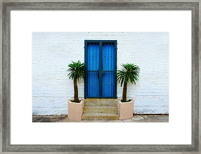 Blue Door Framed Print by Aged Pixel