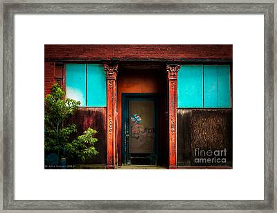 Blue Door Framed Print by Arne Hansen