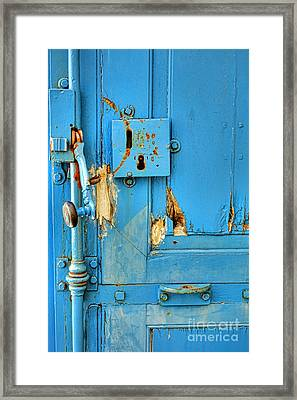 Blue Door Blues Framed Print by Olivier Le Queinec