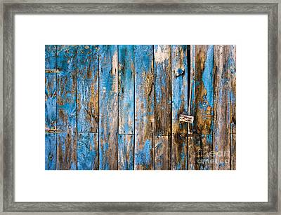 Blue Door Framed Print by Delphimages Photo Creations