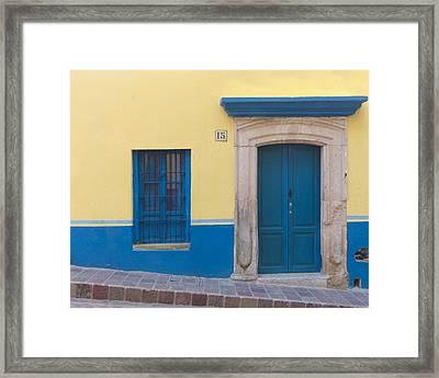 Blue Door Framed Print by Douglas J Fisher