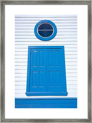Blue Door Fisherman's Wharf San Francisco Framed Print