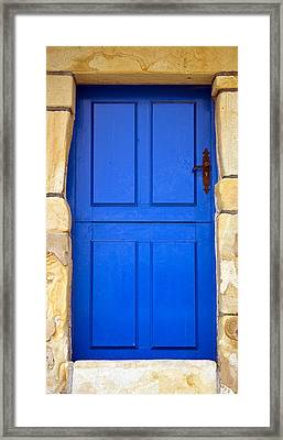 Blue Door Framed Print by Frank Tschakert