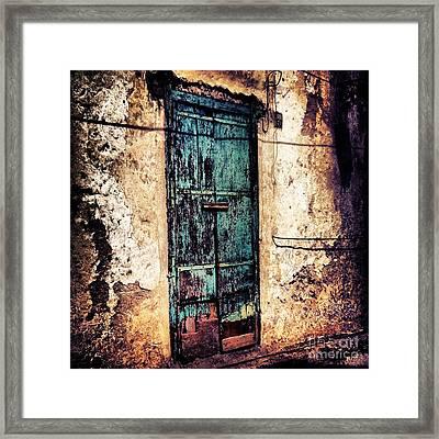 Blue Door Framed Print by H Hoffman