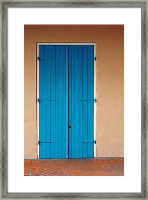 Blue Door In New Orleans Framed Print