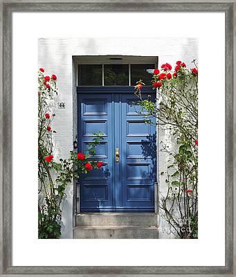Blue Door Framed Print by Kate McKenna