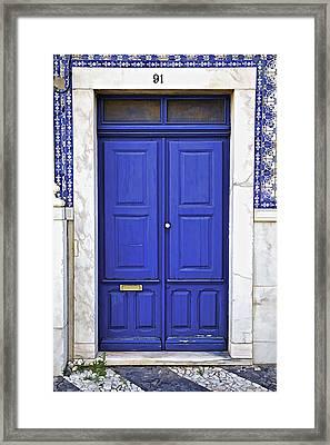Blue Door Of Estremoz  Framed Print