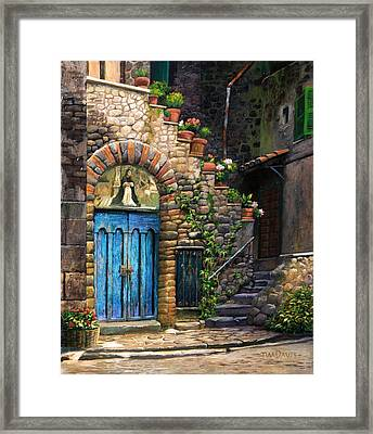 Blue Door Framed Print by Tim Davis