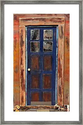 Blue Door Wyoming Framed Print