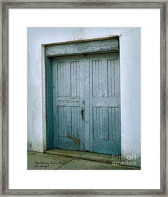 Blue Doors On Brewer Street Framed Print