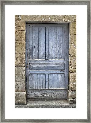 Blue Dordogne Door Framed Print