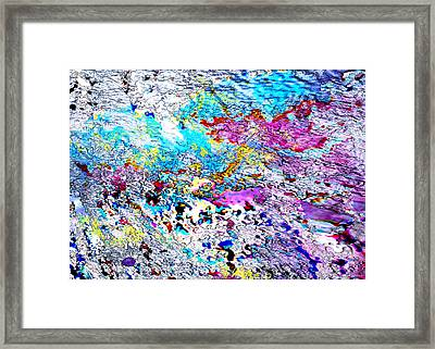 Blue Dragon Trail Framed Print by Mathilde Vhargon