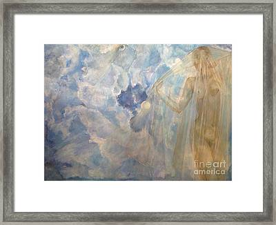 Framed Print featuring the painting Blue Dream by Delona Seserman
