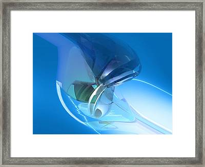 Blue Dreams Of Time Travel Framed Print by Stephen Donoho