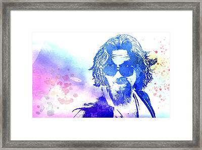 Blue Dude Framed Print by Daniel Hagerman