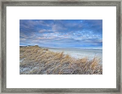 Blue Dusk At Ogunquit Beach Framed Print