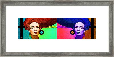 Blue Earring - Purple Lady Combo Framed Print by Chuck Staley