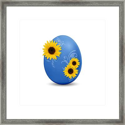 Blue Easter Egg Framed Print