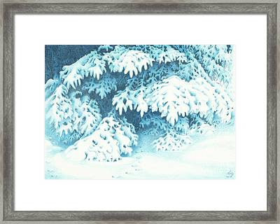 Blue Framed Print by Elizabeth Dobbs