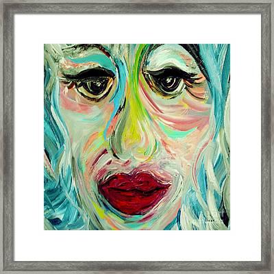 Blue Framed Print by Eloise Schneider