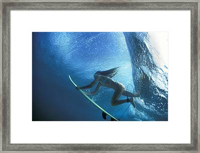 Blue Embrace Framed Print