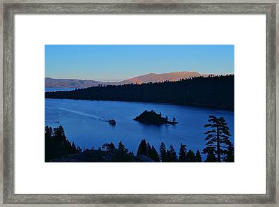 Blue Emerald Bay Lake Tahoe Framed Print