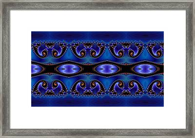 Blue Energy Abstract Framed Print by Sabre Tooth