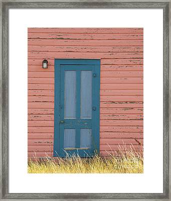 Blue Entrance Door Framed Print