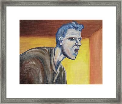 Blue - External Framed Print by Jeffrey Oleniacz