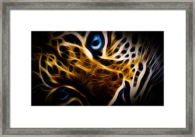 Blue Eye Framed Print by Aged Pixel