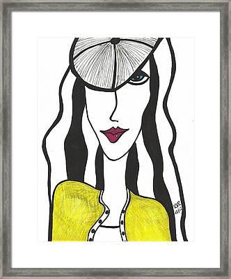 Blue Eyed French Girl Framed Print by Ray Ratzlaff