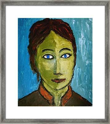 Blue Eyes Framed Print by Zeke Nord