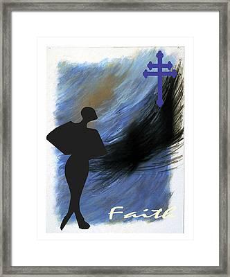 Blue Faith Framed Print by Lynn Darnelle