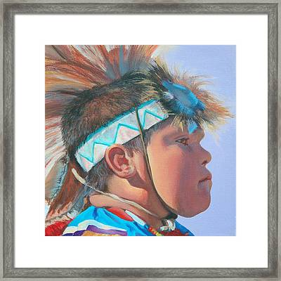 Blue Falcon Framed Print