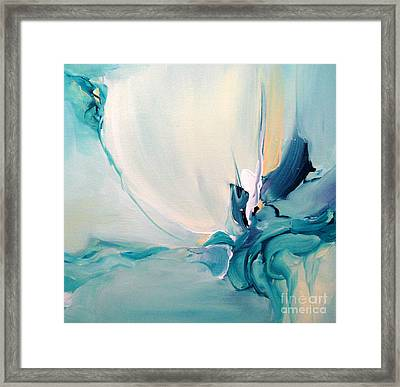 Blue Falling Framed Print