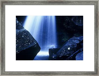 Framed Print featuring the photograph Blue Falls by Rodney Lee Williams