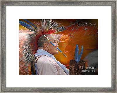 Blue Feather Framed Print by Angelika Drake