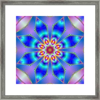 Blue Fire Framed Print by Pat Follett