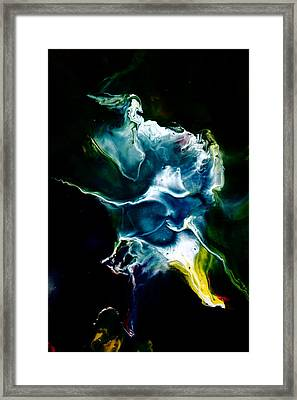 Blue Firefly Abstract Framed Print