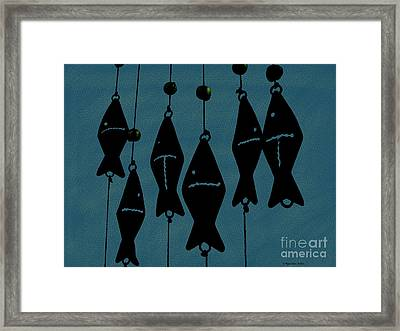 Blue Fish Mobile Framed Print