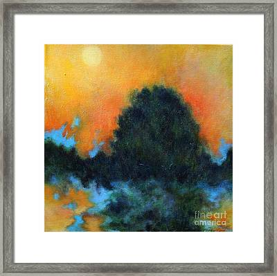Blue Flame Framed Print