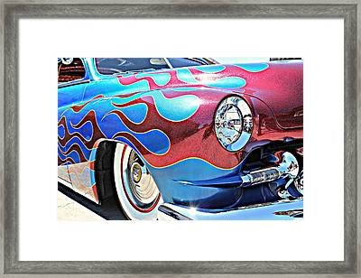 Blue Flamed Merc Framed Print