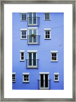 Blue Flats Framed Print
