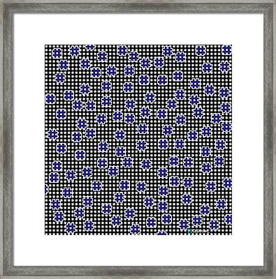 Blue Floating Squares Framed Print