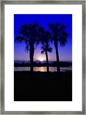Framed Print featuring the photograph Blue Florida Sunrise by Susan D Moody