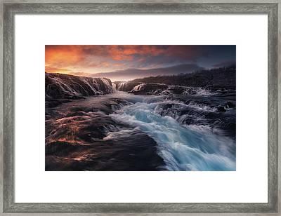 Blue Flow Framed Print