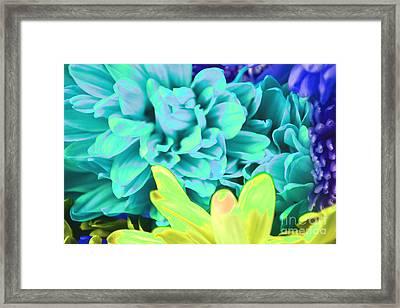 Blue Flower Framed Print by LLaura Burge