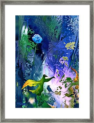 Blue Flower With Guardian Framed Print